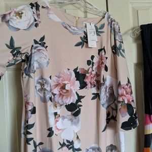 Dress Barn floral dress bell sleeves